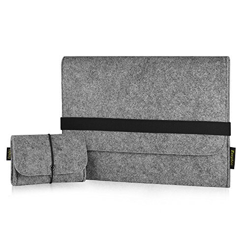 EasyAcc Macbook Air 13.3 Zoll Filz Sleeve Hülle Ultrabook Laptop Tasche für 13'' MacBook Pro/ Macbook Air 13/ Pro Retina/ 12,9 Zoll iPad Pro Hülle Grau