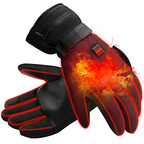 Mermaid Elektrische Beheizbare Handschuhe für Herren Damen Winterhandschuhe mit Wiederaufladbare Lithium-Ionen-Batterie Beheizt 3.7V -