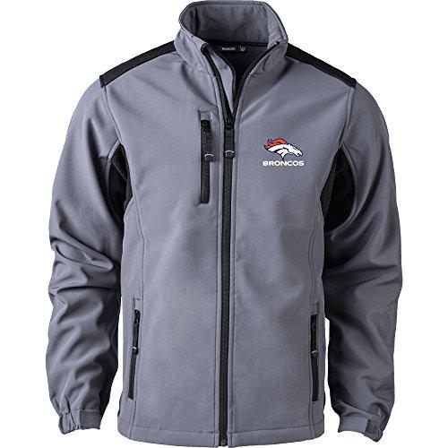 NFL Denver Broncos Herren Softshell Jacke, Größe L, graphit (Broncos Jacke)