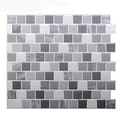 Vamos Tile Premium Anti Mold Peel And Stick Tile Backsplash,Self Adhesive  Wall Tiles For