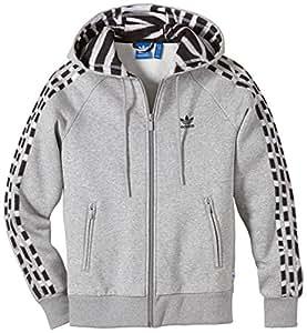 Adidas Blouson avec Capuche polaire enfant () Gris Gris - Gris 00 meses (40 cm)