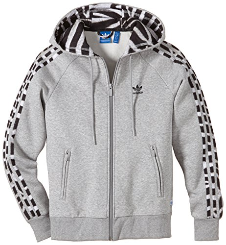 adidas Mädchen Hoodie Girlie Zip, Medium Grey Heather, 40, M30464 (Sweatshirt Hoodie Zebra)