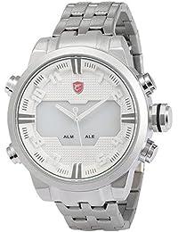 Shark SH202 - Reloj para hombres, correa de acero inoxidable color plateado
