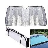 VITA PERFETTA Abdeckung für Autoscheiben/Sonnenschutz, Hitze, Staub, UV-Schutz, 130 x 60 cm