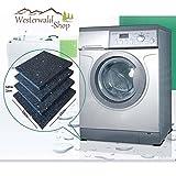 Westerwald-Shop 4 Anti-Rutschpads 10 cm x10 cm x 10mm Unterlage Waschmaschine Pads Gummipads Antivibration Vibrationsdämpfer Trockner