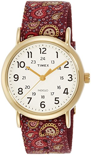 Timex Damen Analog Quarz Uhr mit Textil Armband TW2P81000