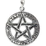 Amulett Tetragrammaton Pentagramm aus 925er Sterling Silber mit Lederband