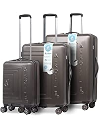 """Aerolite ABS léger Hard Shell 8 roues 3 pièces valise bagages, 21""""Hand Cabin Bagages + Moyen 25"""" + Grand 29""""Hold Arrivée Bagages, Couleur"""