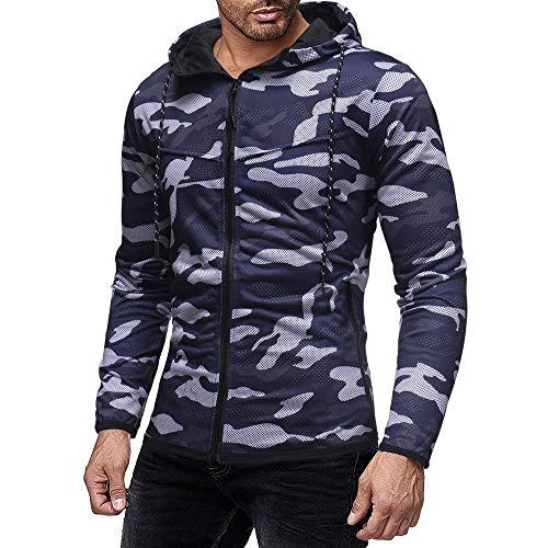 Roiper Sweat à Capuche Veste Sweat Shirt Homme, Homme Automne Hiver Camouflage Imprimer Sweat-Shirt Long Sleevetop Chemis