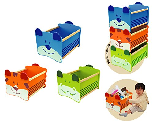 """'Caja para juguetes """"Tiger stabelbar"""