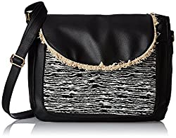 Kanvas Katha Womens Handbag (Black) (KKSMX005)