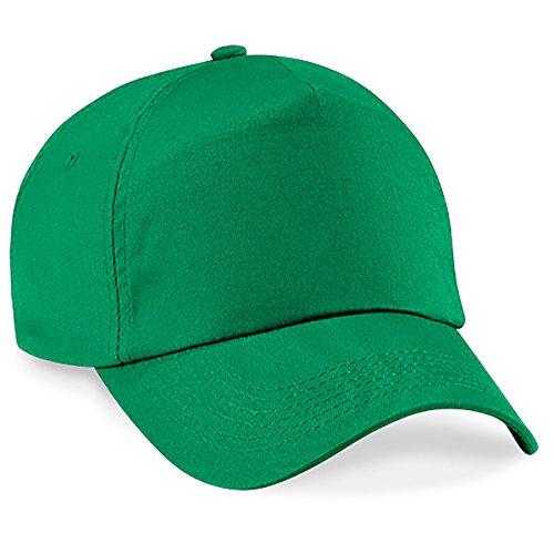 4sold Junior Original 5 Panel Cap Unisex Jungen Mädchen Mütze Baseball Cap Hut Kinder Kappe (Green) (Grüner Hut)
