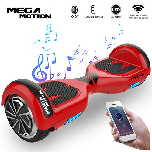 Mega Motion E1 Self Balanced Electric Scooter -built in Bluetooth Speaker- LED