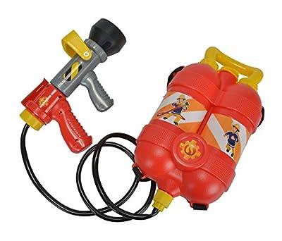 Simba 109250916 - Feuerwehrmann Sam Tankrucksack in rot