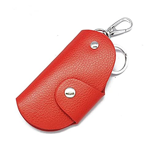 Happyit Leder-Auto-Schlüsselabdeckungs-Fall Männer und Frauen-allgemeine hohe Art und Weise für alle Auto-Schlüssel (Dunkelrot)