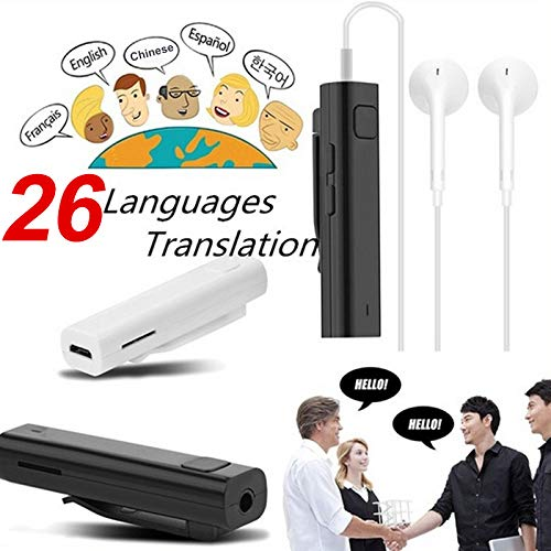 Traduttore vocale multilingue. Ricevitore di traduzioni bluetooth. 26 lingue. Traduttore istantaneo. Traduzione in tempo reale