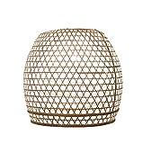 Lampenschirm Basket Bambus M, 40x40cm – weiss, Bambuslampen aus Bali, handgemachte Lampenschirme aus Bambus, als Hängelampe, Pendelleuchte über Esstisch, im Kinderzimmer oder als Wohnzimmerlampe.