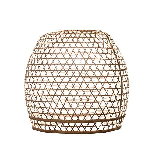 Lampenschirm Basket Bambus M, 40x40cm - weiss, Bambuslampen aus Bali, handgemachte Lampenschirme aus Bambus, als Hängelampe, Pendelleuchte über Esstisch, im Kinderzimmer oder als Wohnzimmerlampe.