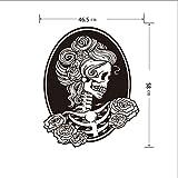 Happy Halloween Wand Aufkleber Tapete Fairy Totenkopf Wand Aufkleber Wandbild Rollenspiele Zimmer Dekoration, schwarz, Skull wall sticker-58*46.5cm