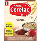 Nestlé CERELAC Baby Cereal with Milk, Ragi Apple – From 8 Months, 300g BIB Pack
