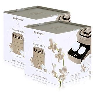 Air Pearl by ipuro elektrischer Raumbedufter Taupe - Design Cube (2er Pack)