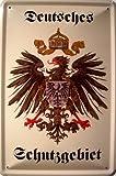 Deutsches Schutzgebiet Wappen Blechschild Schild Blech Metall Metal Tin Sign 20 x 30 cm