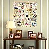 Love-KANKEI FAMILY Bilderrahmen Collage Fotorahmen Holzbilderrahmen mit 30 kleinen Holzklammern Vergleich