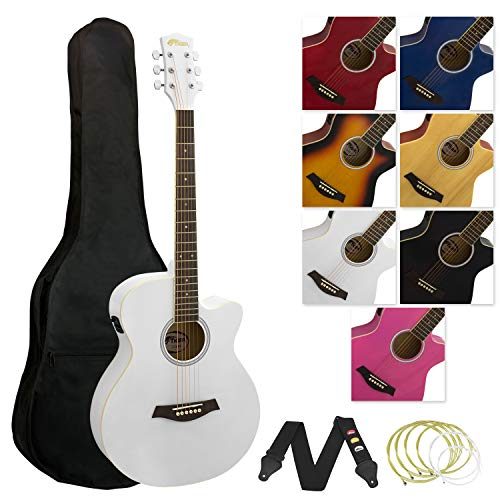Tiger ACG4-WH - Guitarra electroacústica, color blanco