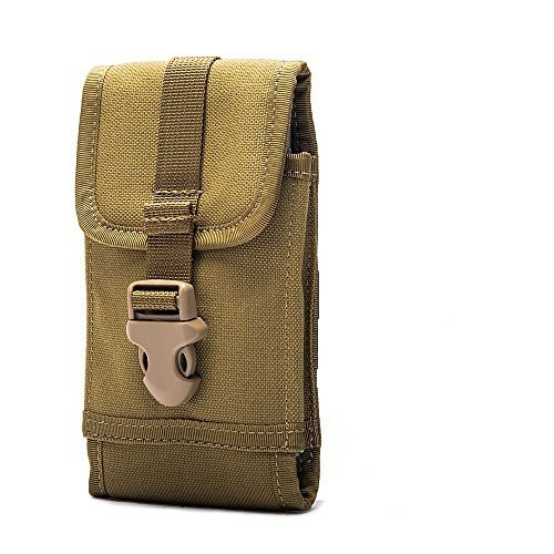 OneTigris Molle Taktische Handytasche für iPhone6/iPhone6 Plus/iPhone 6s/iPhone 6s Plus/Galaxy Note 4/Blackberry 8300/HTC One Max (Khaki)