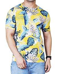 Veirdo Men's Cotton Floral Print T-Shirt