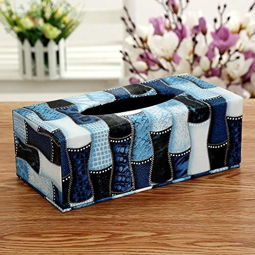 Sanlucky Kreative Leder Kosmetiktücher-Box Europäischen Papierfach Hotel Spezielle Papier Box Niedlich Speicher Finishing Box, Wasser Würfel, Multi-Größe, 24 * 12 * 8.5Cm (Leder-würfel-box)