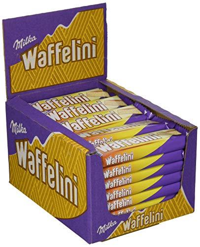 Preisvergleich Produktbild Milka Waffelini - Waffelriegel mit einer Crèmefüllung überzogen mit Alpenmilch Schokolade - Thekendisplay - 35 Riegel à 31g