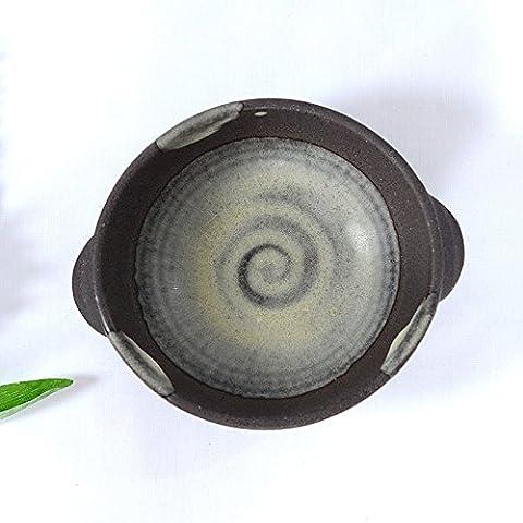 Yifom Carbono esmaltes cerámicos Bowl cake teñido binaural tazón de sopa