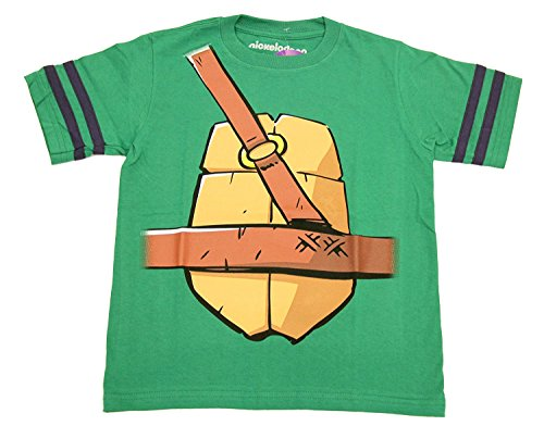 (Teenage Mutant Ninja Turtles Donatello Bo Staff Jungen Striped Sleeves Kostüm T-Shirt (Jungen 8))