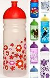 ISYbe Trinkflasche 700ml Flower Power, transparent, schadstofffrei, spülmaschinengeeignet, auslaufsicher