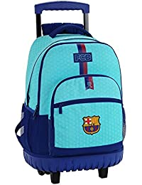 Safta Mochila Escolar Grande Con Ruedas F.C. Barcelona 2ª Equipacion 17/18 Oficial 320x140x460mm