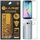 iKare Impossible Tempered Glass Screen Protector for Samsung Galaxy S6 Edge Plus G928 (Front-Back, REUSABLE, ULTRA CLEAR, REAL SHOCK PROOF, UNBREAKABLE)