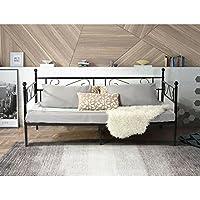 Aingoo sofá cama armadura de cama con tablillas cama de día cama de invitados 90 x 200 CM (Negro)