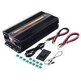 Hehilark Spannungswandler Ladegerät 1500 3000W Kfz-Wechselrichter Inverter Stromwandler DC 12 V auf AC 220-230 mit USB-Anschlus (3000W)