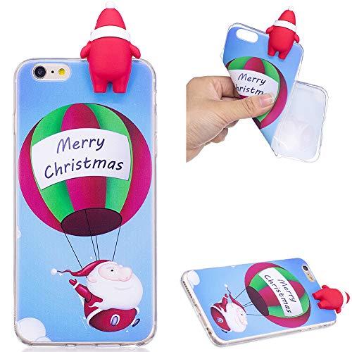 ZCXG iPhone 6S Plus Handyhülle,Hülle Silikon Transparent Motiv 3D Weihnachtsthema Madam Weihnachtsgeschenke Kinder Geschenk Frauen Handyhülle für iPhone 6 Plus/iPhone 6S Plus - Balloon