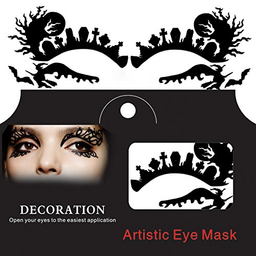 Spider Halloween Eye Tattoo Sticker Squishy Lace Fretwork Papercut Masquerade ()