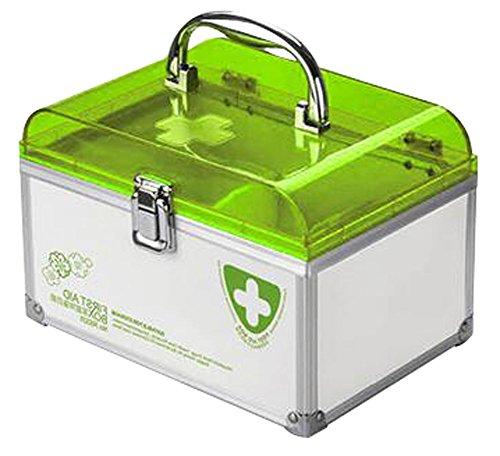 Handheld sperren Family Medicine Cabinet Erste-Hilfe-Kit Aufbewahrungsbox Grün