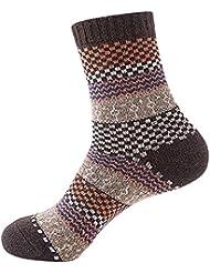 Retro estilo étnico corto calcetines, Moresave Mezcla Mantener calientes calcetines de invierno Soft Breathable adultos calcetines