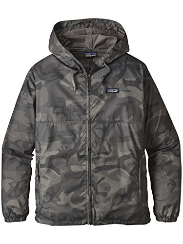Herren Windbreaker Patagonia Light & Variable Windbreaker forest camo: forge grey