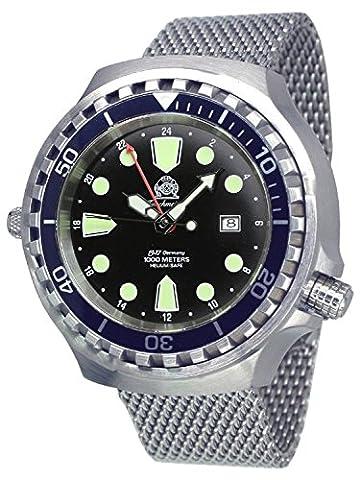 Prof. diver watch - 24h automatic movement Milanaise strap T0268MIL