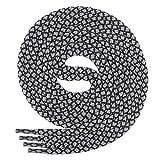 Di Ficchiano runde SCHNÜRSENKEL für Arbeitsschuhe und Trekkingschuhe - sehr reißfest - ø ca. 4,5 mm, Polyester - SP-01.1-black/grey-120
