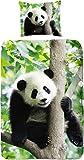 Good Morning Kids,Pandabettwäsche, Kinderbettwäsche Panda, 135 x 200 cm