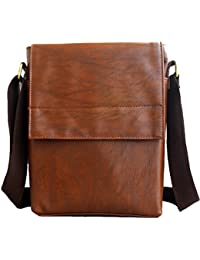 """JaisBoy Messenger Bags Genuine PU Bag - Cross Body Shoulder Side Bag & Traveler Sling Bag For 10"""" IPad/Tablet..."""