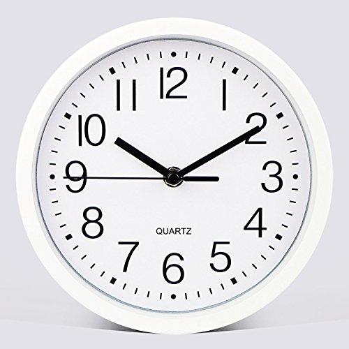 Komo Geräuscharm modernes Ziffernblatt kein nerviges Ticken Küchenuhr Wanduhr Stilvolles Wohnzimmer Schlafzimmer kreative Quarzuhr 8 Ø 20 cm Elfenbein - Elfenbein-thermometer