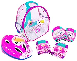 Clanners - Set de Casco + Protecciones Chica (Saica Toys 8991)